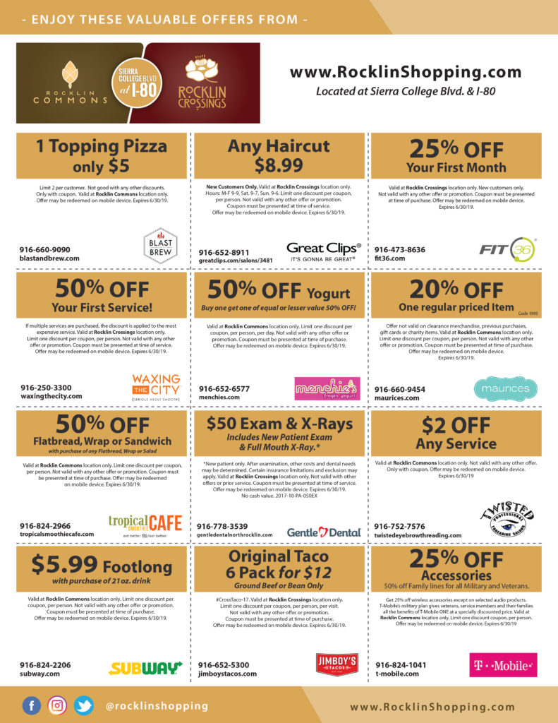 Rocklin Commons & Rocklin Crossings Online Coupons Valid 6-30-19 - Page 2